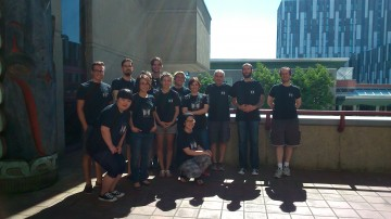 BAR Lab group photo, 2014 Kenny Psychology Building